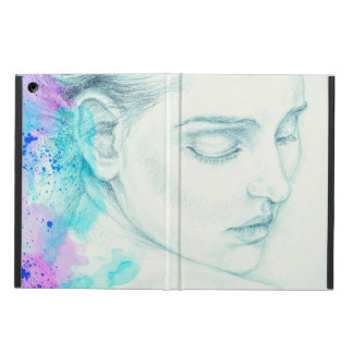 Pretty Victorian Lady In Blue Cover For iPad Air