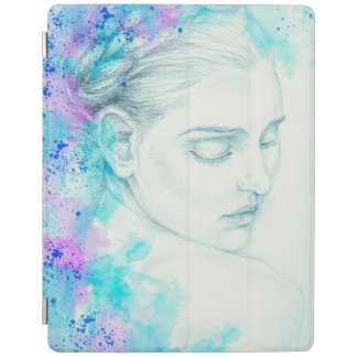 Pretty Victorian Lady In Blue iPad Smart Cover
