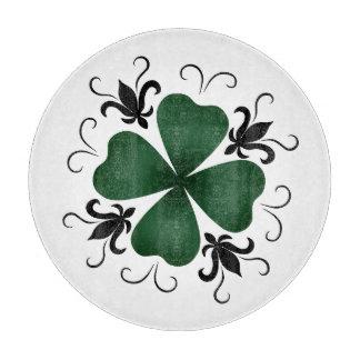 Pretty victorian St. Patrick's Day shamrock Cutting Board