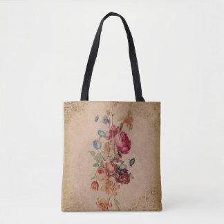 Pretty Victorian Vintage Rose Floral Tote Bag