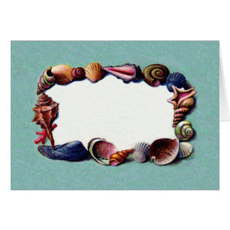 Pretty Vintage Beach Sea Shell Border Design Card
