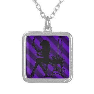 Pretty Vintage Candy Stripe Amethyst Purple Grunge Jewelry