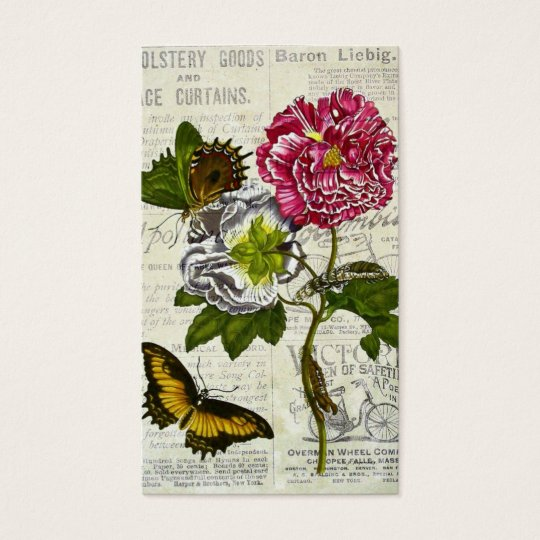 Pretty Vintage Collage Business Card