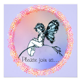Pretty Vintage Fairy, invitation