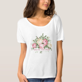 Pretty vintage floral enjoy the little things T-Shirt