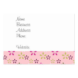 Pretty Vintage Pastel Pink and Purple Floral Print Pack Of Chubby Business Cards