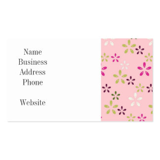 Pretty Vintage Pastel Pink and Purple Floral Print Pack Of Standard Business Cards