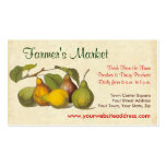 Pretty Vintage Pears Farmer's Market, Greengrocer Business Cards