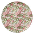 Pretty Vintage Pink Roses Plate