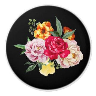 Pretty, Vintage, Roses, Floral, Ceramic Knob
