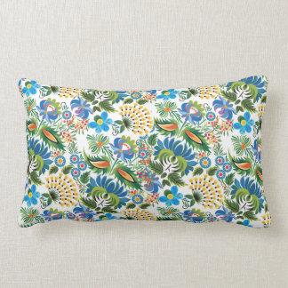 Pretty Vintage Russian Khokhloma Lumbar Pillow
