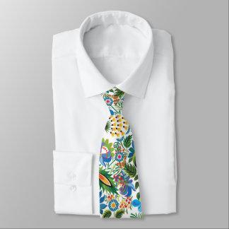 Pretty Vintage Russian Khokhloma Tie