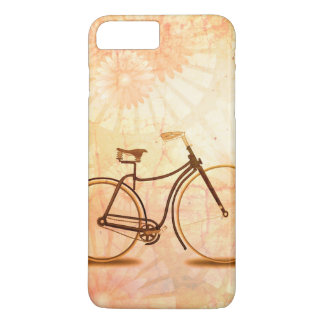 Pretty Vintage Sepia Bicycle Peach Floral iPhone 7 Plus Case