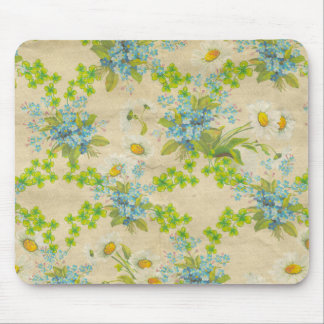 pretty vintage wildflowers mouse pad