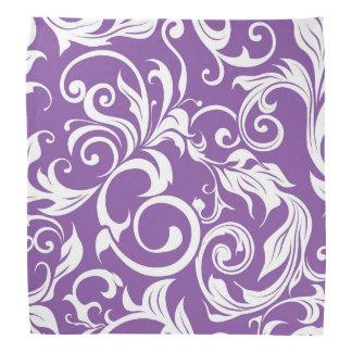 Pretty Violet Purple Floral Wallpaper Pattern Bandana