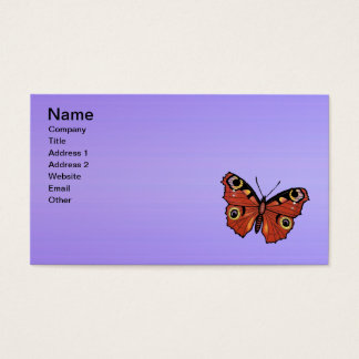 Pretty Vivid Monarch Butterfly Purple Business Card