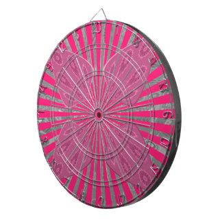 Pretty Vivid Pink Beautiful amazing edgy cool art Dartboards