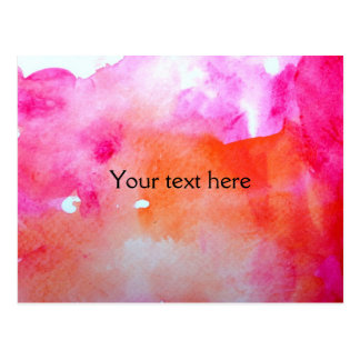 Pretty Watercolor Background Postcard