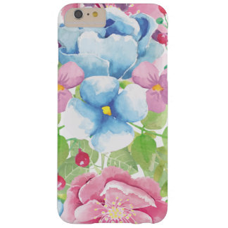 Pretty Watercolor Floral Bouquet Barely There iPhone 6 Plus Case