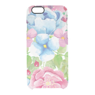 Pretty Watercolor Floral Bouquet Clear iPhone 6/6S Case