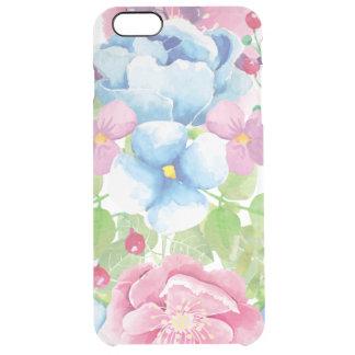 Pretty Watercolor Floral Bouquet Clear iPhone 6 Plus Case