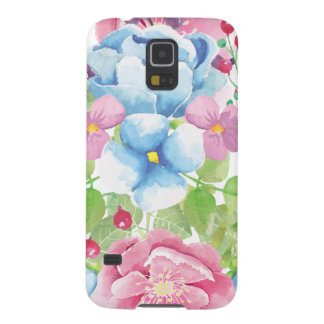 Pretty Watercolor Floral Bouquet Galaxy S5 Cover