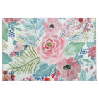 Pretty watercolor hand paint floral artwork doormat
