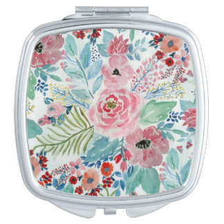 Pretty watercolor hand paint floral artwork vanity mirrors