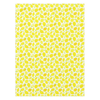 Pretty Watercolor Lemon Fruit Patterned Tablecloth