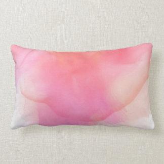 Pretty Watercolor Pinks & Corals - All Fabrics Lumbar Cushion