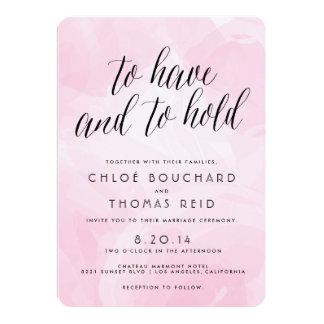 """Pretty Watercolor Script Wedding Invitations 5"""" X 7"""" Invitation Card"""