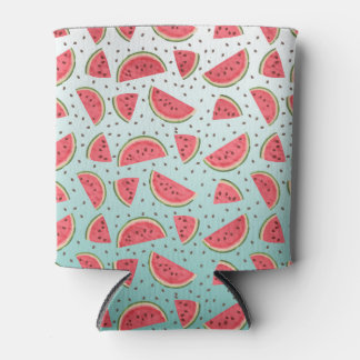 Pretty watermelon slices and seeds pattern can cooler