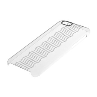 Pretty Waves silver + your backgr., text & ideas Clear iPhone 6/6S Case