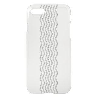 Pretty Waves silver + your backgr., text & ideas iPhone 7 Case