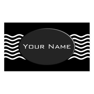 Pretty Waves white + your backgr., text & ideas Pack Of Standard Business Cards