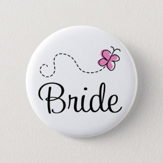 Pretty Wedding Day Bride Button