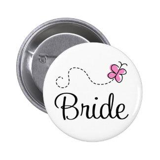 Pretty Wedding Day Bride Button