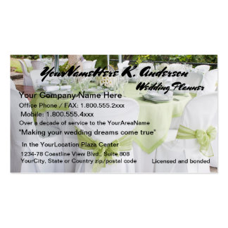 Pretty Weddings Wedding Planner Pack Of Standard Business Cards