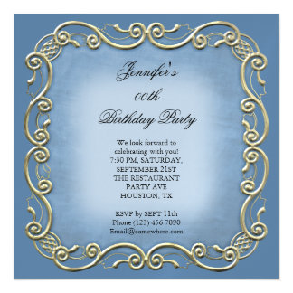 Pretty WedgeWood Antique Scroll Birthday Party Magnetic Card
