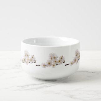 Pretty White Cherry Blossoms Soup Mug