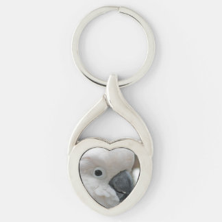Pretty White Cockatoo Key Ring