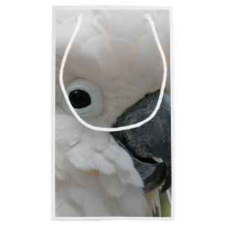 Pretty White Cockatoo Small Gift Bag