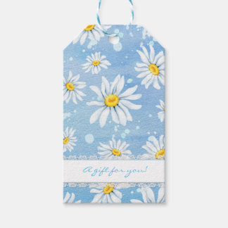 Pretty White Daisies Gift Tags