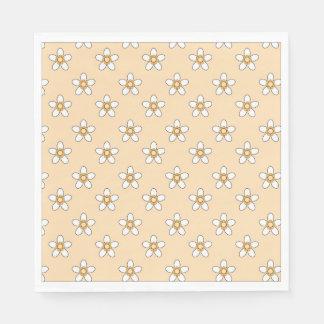 pretty white daisy flower napkins disposable serviette