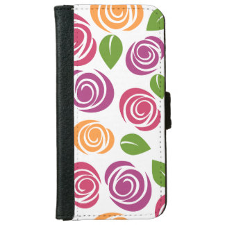 Pretty White Floral iPhone 6/6s Wallet Case iPhone 6 Wallet Case