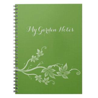 Pretty White Flower Flourish My Garden Notes Notebook