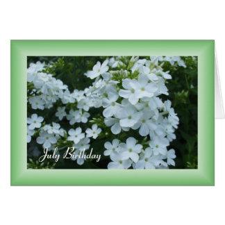 Pretty White Flowers Card
