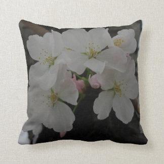 Pretty White Flowers Throw Cushion