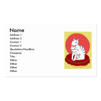 Pretty White Kitty Business Cards