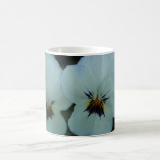 Pretty White Pansies Coffee Mug